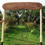Transition Town Kinsale's lovely hand made Community Orchard Sign